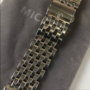 New authentic Michele deco steel Watch Band 18 MM